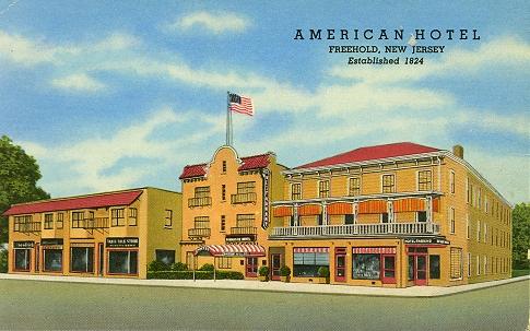 American Hotel Postcard 1824